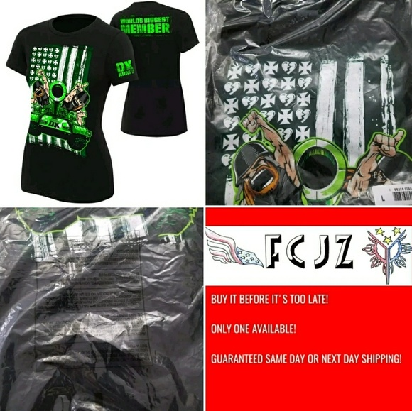 9c66c791b WWE Womens DX Army T-shirt Official Merch Large
